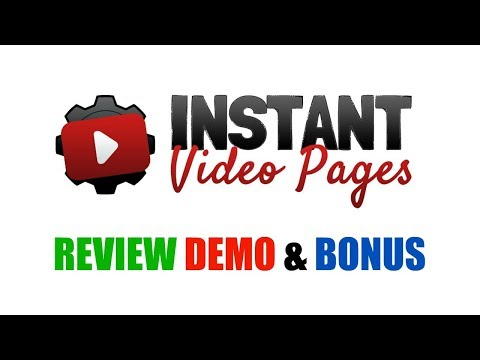 Instant Video Pages Review Demo Bonus - Create Video Review Pages In 60 Seconds
