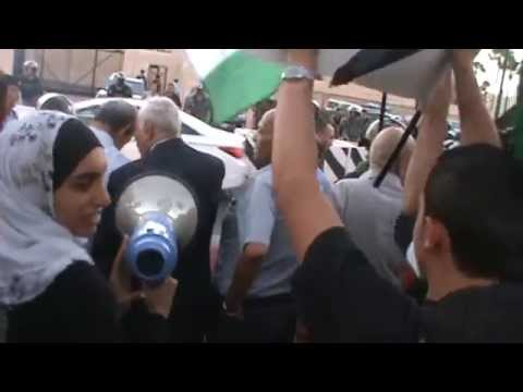 Palestinian Protests at the American Embassy Amman Jordan: Wafaa Dias on the Mic