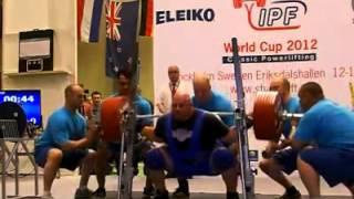 Raw squat 375 kg Blaine Sumner IPF Classic Cup 2012