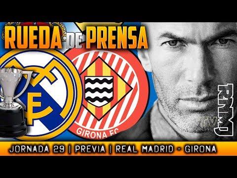 Real Madrid - Girona Rueda de prensa de Zidane (17/03/2018)   PREVIA LIGA JORNADA 29