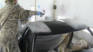 Restoration / Old car painting method and How to paint step by step / custom painting