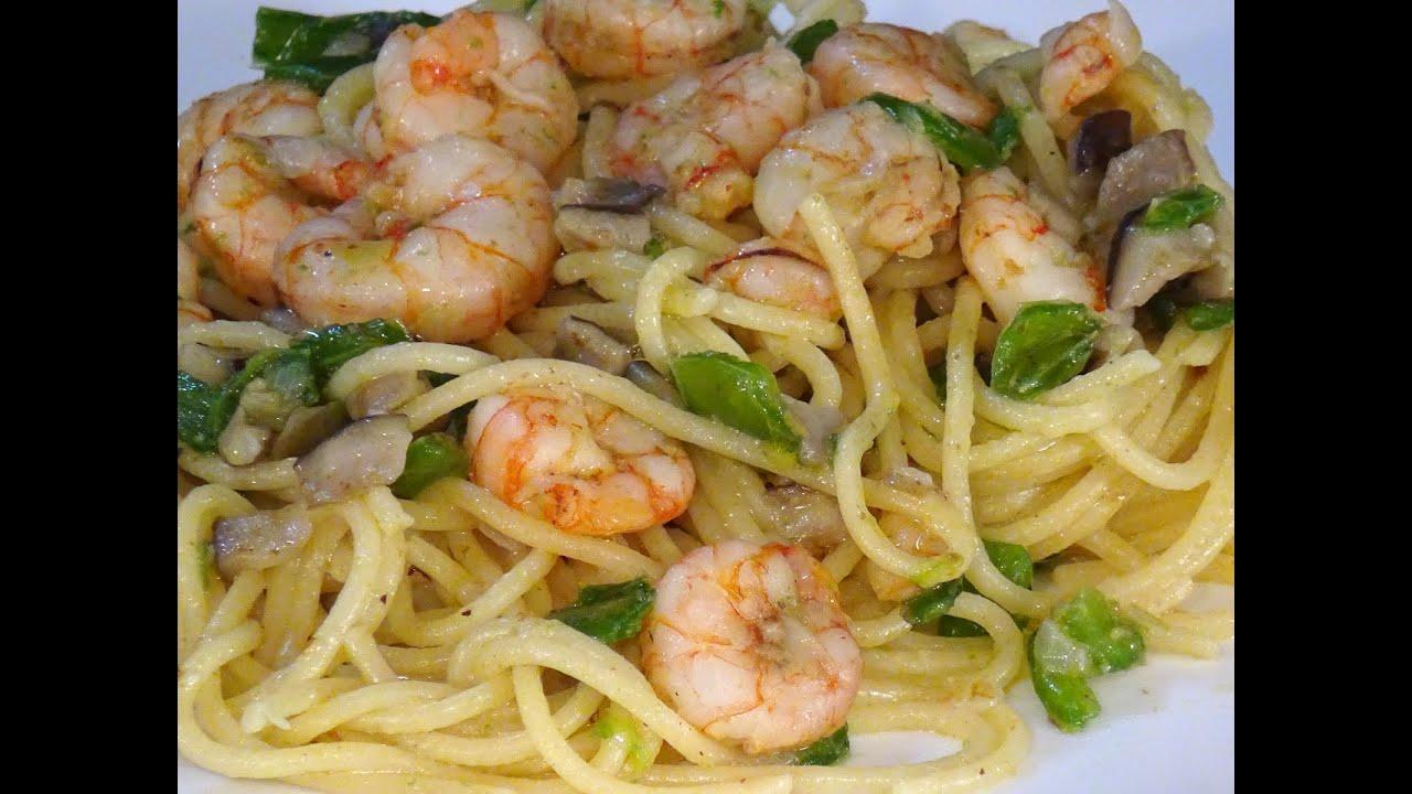 Receta Espaguetis Con Gambas Y Verduras Recetas De Cocina Paso A Paso Tutorial