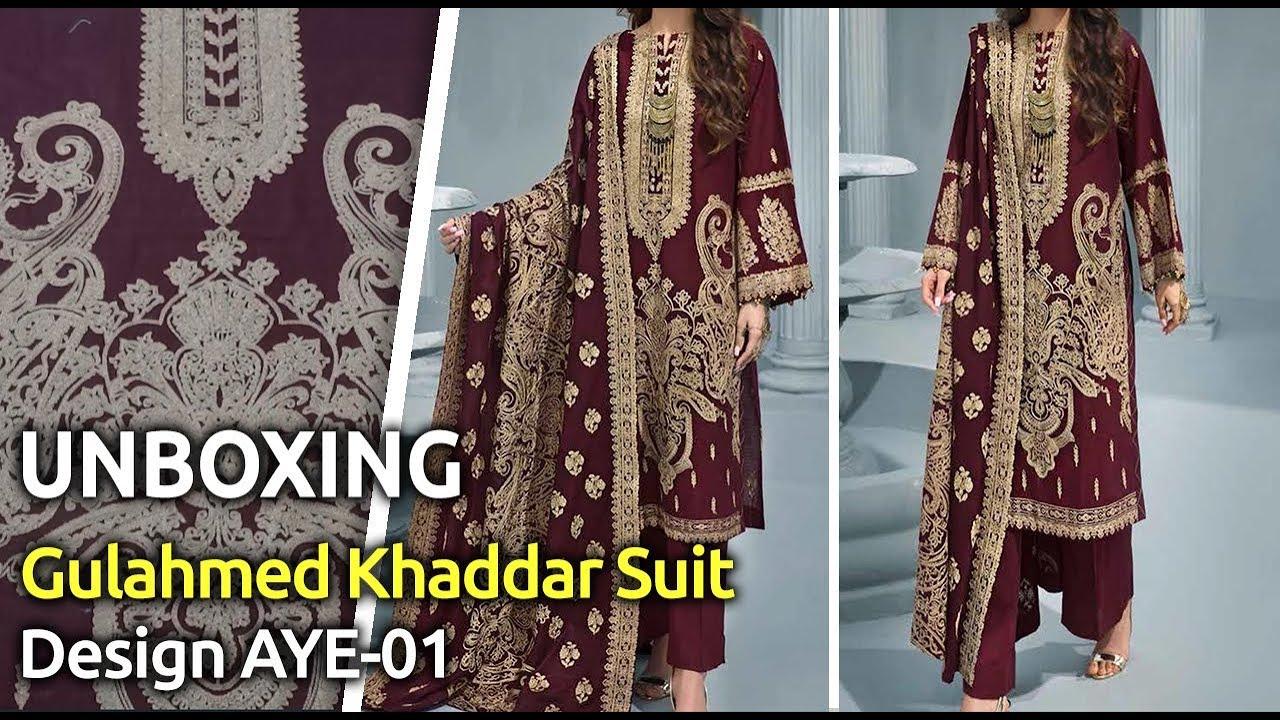 [VIDEO] - Latest GULAHMEDWinter Collection 2019 | Pakistani unstitched Winter Suits | Design AYE-01 1