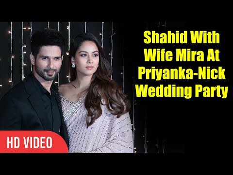 Cute Couple Shahid Kapoor and Mira Kapoor at Priyanka Nick Wedding Reception