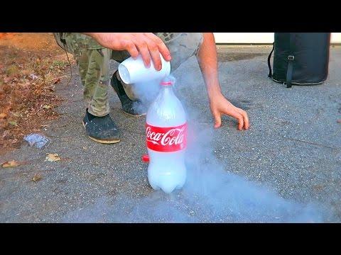 Don't Put Liquid Nitrogen into Plastic Bottle