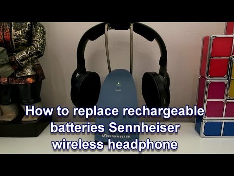 How to replace rechargeable batteries Sennheiser wireless headphone