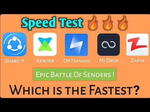 SHAREit Vs Zapya Vs Mi Drop Vs Xender Vs CM Transfer !!! Epic Speed Test 🔥🔥🔥