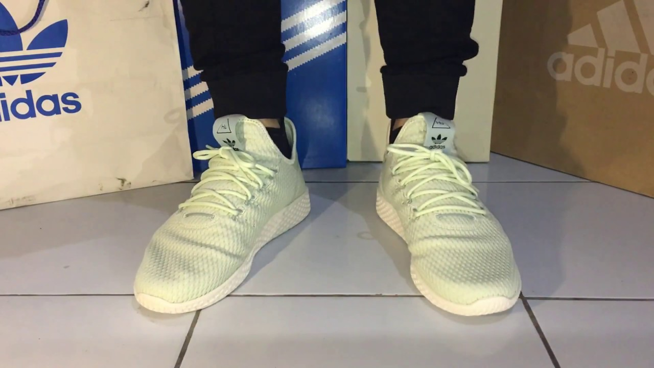 0de680362add3 On Feet Adidas Pharrell Williams Tennis HU - YouTube