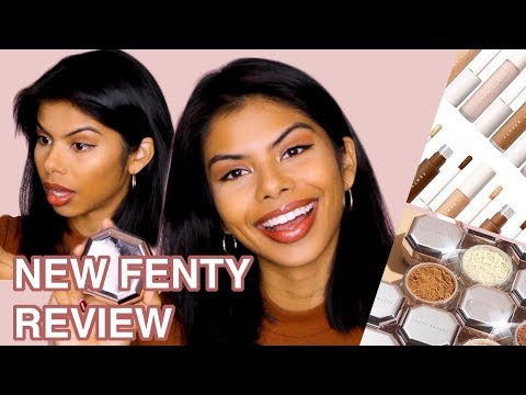 NEW Fenty Beauty CONCEALER & SETTING POWDER REVIEW on BROWN Skin/First Impressions