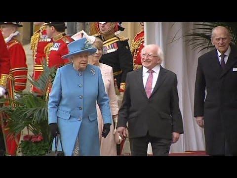 Irish President Michael D Higgins makes historic UK state visit