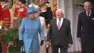 Irish President Michael D Higgins makes historic UK state visit