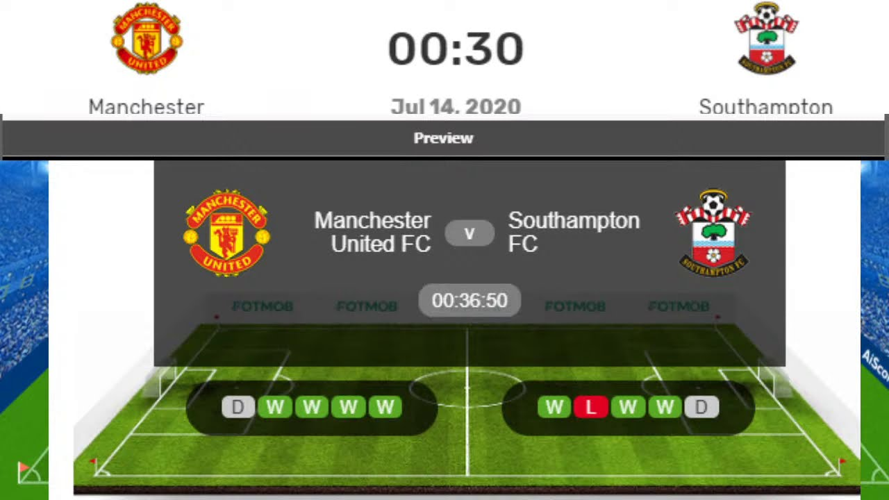 Manchester United vs. Southampton Live Stream, Premier League ...