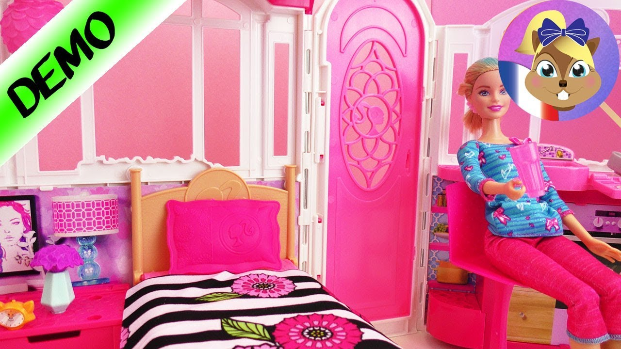 barbie glam maison de vacances appartement avec 3. Black Bedroom Furniture Sets. Home Design Ideas