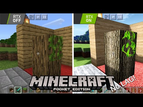 """REAL """"RTX ON"""" Texture+Shaders Minecraft PE 1.16 