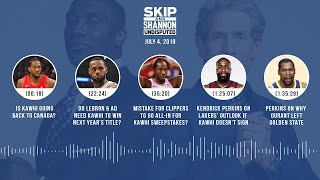 UNDISPUTED Audio Podcast (7.4.19) with Skip Bayless and Shannon Sharpe | UNDISPUTED
