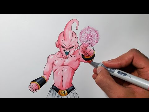 drawing-kid-buu---dragon-ball-z