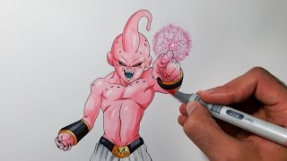 Drawing Kid Buu - Dragon ball Z