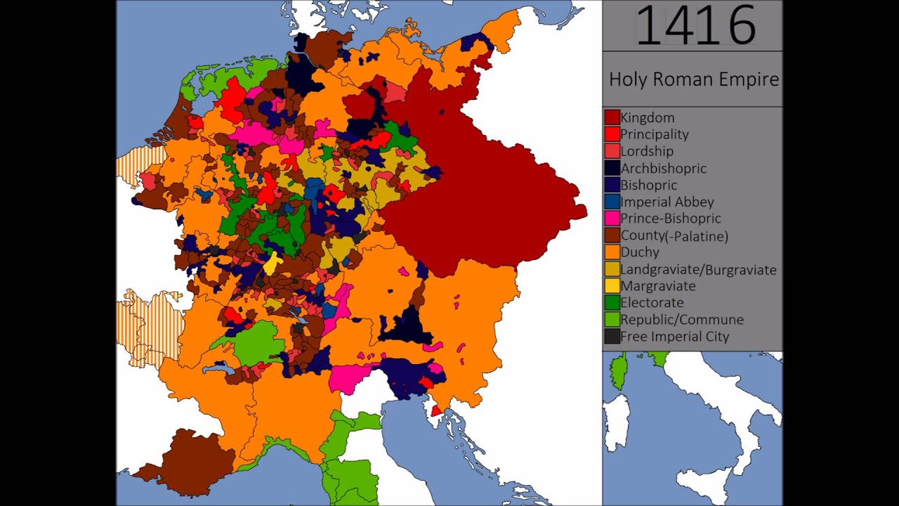 The Holy Roman Empire Every State Every Year YouTube - Holy see map hd