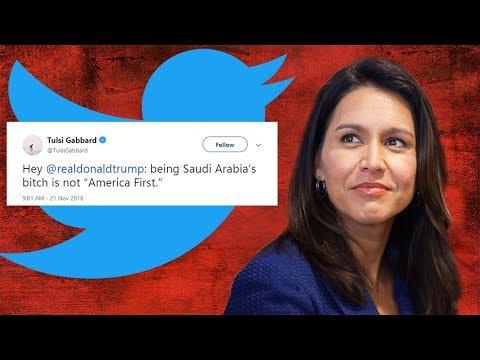 Rep. Tulsi Gabbard Calls Trump 'Saudi Arabia's b1tch'