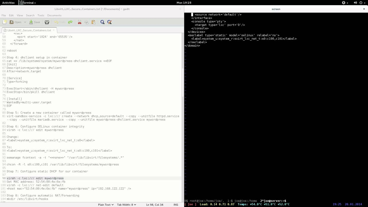 Brief: Libvirt LXC Secure Containers: Wordpress