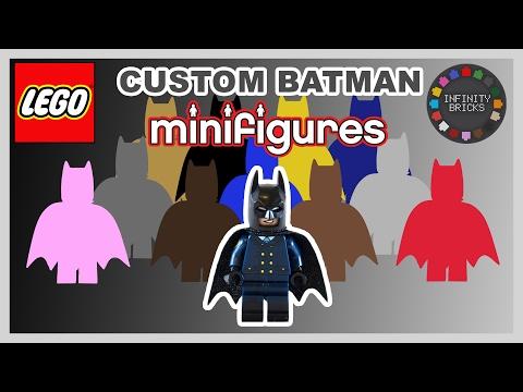LEGO Batman Movie Custom Batsuit Minifigure Designs