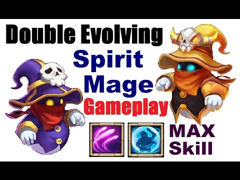 Double Evolved Maxed SPIRIT MAGE GAMEPLAY For Insane Dungeons Castle Clash SM Devo