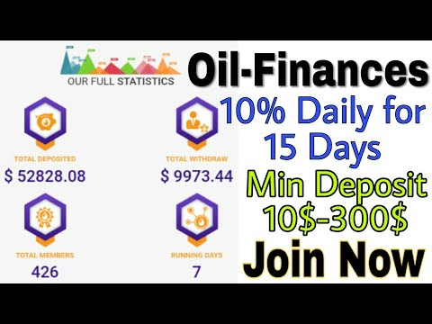 Oil-finances.com | Earn 12% daily for 15 days from your deposit | Best chance to earn after LASER