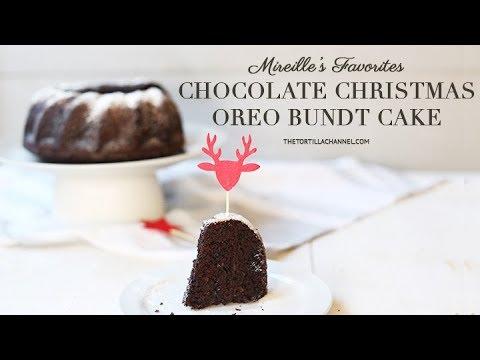 Chocolate Christmas Oreo Bundt Cake Recipe
