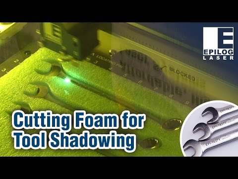 Laser Cutting Foam for Tool Shadowing - Wrench Metal Engraving