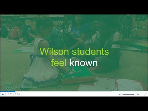 Be Known at The Wilson School