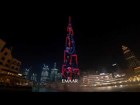 Burj Khalifa FRIENDS Turns 25 Show