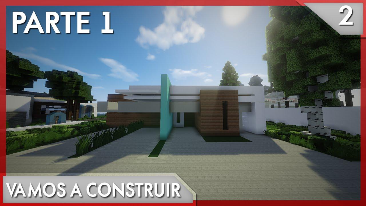 Minecraft vamos a construir casa moderna 2 1 2 youtube for Eumaster casa moderna 8x8