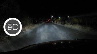 Pruebas de iluminacion kit LED H4 OSUN XP en un VW SEDAN VOCHO Video