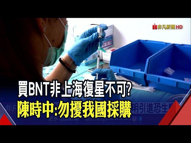 難繞過上海復星? 永齡基金會引進BNT疫苗恐生變? 非凡新聞 20210613