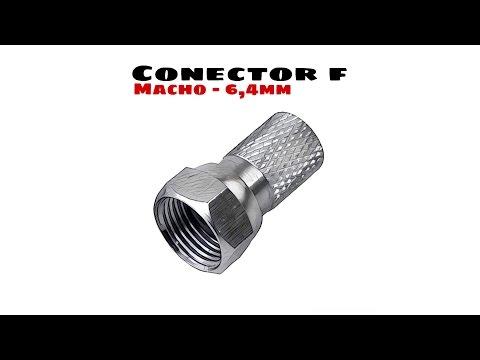Video de Conector F rosca 6.4mm  Gris