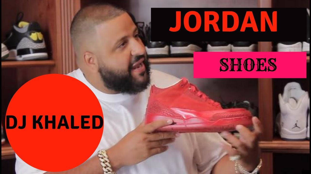 Dj Khaled New Red Jordan Shoes