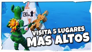 VISITA las 5 (cinco) elevaciones MAS ALTAS de LA ISLA | FORTNITE BATTLE ROYALE