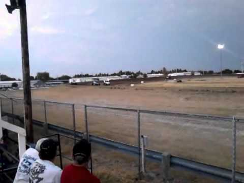 McCook Speedway - 305 Sprint - heat race rollover crash