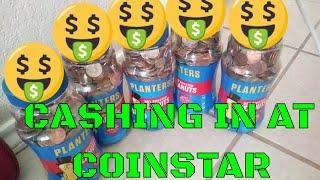 CASHING in Coins at Coinstar Machine - How much MONEY will we get???