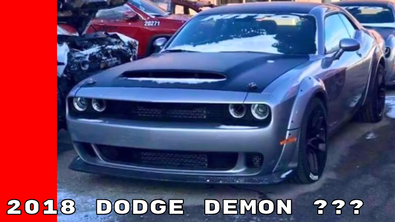 2018 Dodge Demon Spied Again Youtube