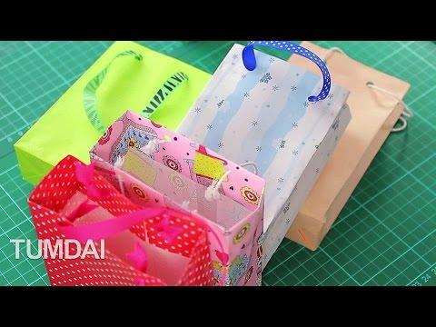 สอนพับถุงของขวัญ จากกระดาษ สีสด
