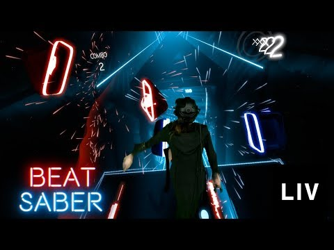 PERFECT Combo in Beat Saber! Hard Mode w LIV Tech