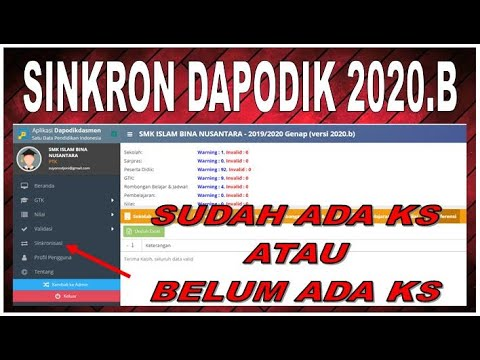 CARA SINKRONISASI DAPODIK 2020.B YANG BARU SECARA LENGKAP ...