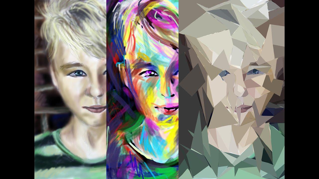 Cubism Face Paint