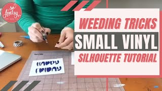 Tricks for Weeding Super Small Vinyl & HTV Designs (Especially Text)