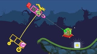 Bad Piggies - FLY A ZOMBIE DRAGON KITE TO CATCH CRATE!