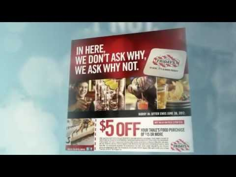 picture regarding Fridays Printable Coupon titled Take The TGI Fridays Printable Coupon codes Inside of 2012