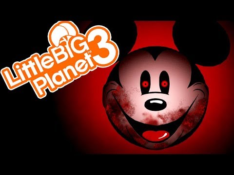 AGONY WITH MICKEY! | Little Big Planet 3 Multiplayer (107) Abandoned By Disney