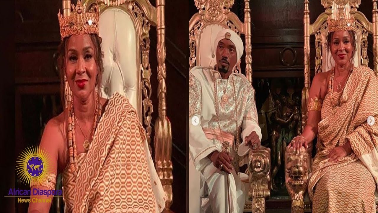 Lisa Raye Crowned As Queen Mother Of Central Ghana By Paramount Chief of Agona Kwanyako
