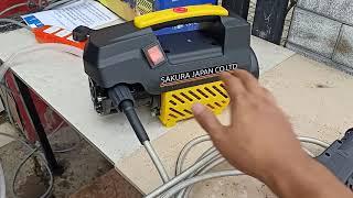 máy rửa xe sakura omais phun xịt và cách lắp đặt hiệu quả